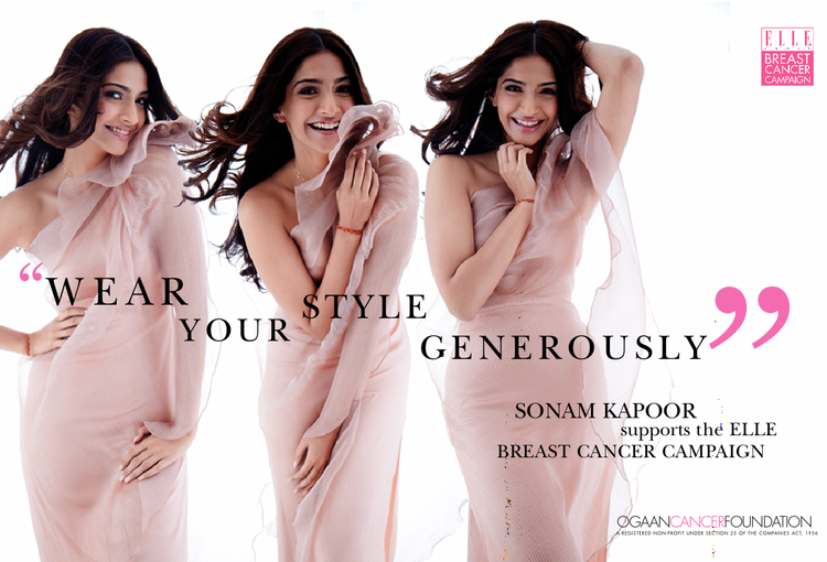 ELLE India Breast Cancer Campaign Photo Shoot