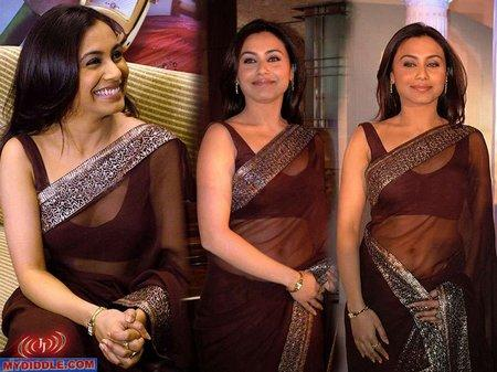 Rani Mukherjee In Transparent Saree Nice Pic