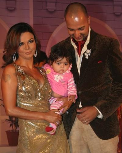 Rakhi Sawant and Elesh at Pati Patni Woh Show