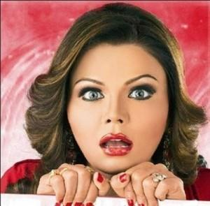 Rakhi Sawant Cute Shocking face Look Still