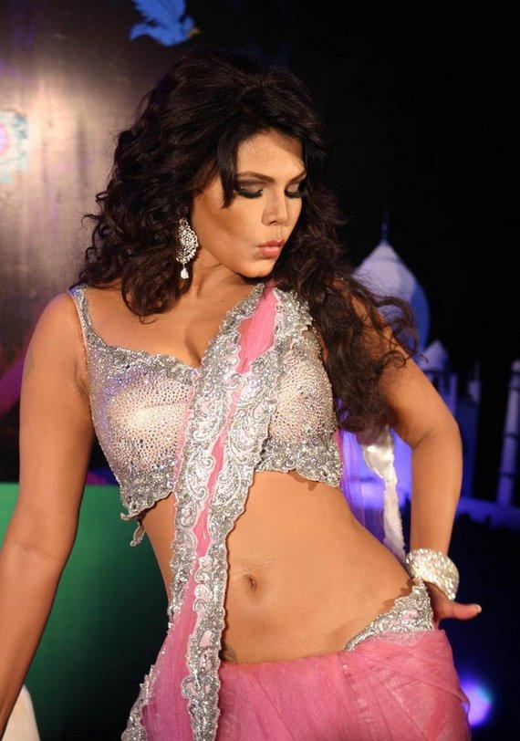 Rakhi Sawant In Sexy Saree Spicy Photo