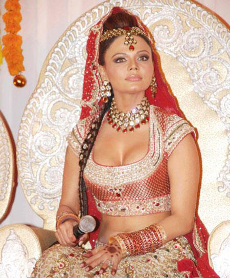 Rakhi Sawant Wedding Costume Hot Photo