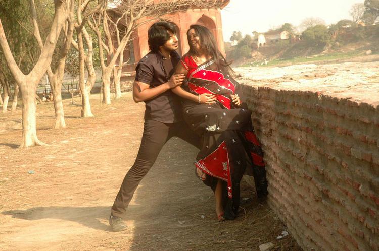 Ananya and Prajwal Devaraj Dancing Pic Gokula Krishna Movie