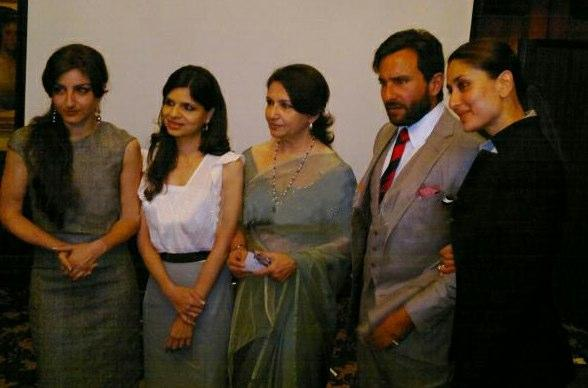Kareena Kapoor With Saif's Familt at James Court Hotel