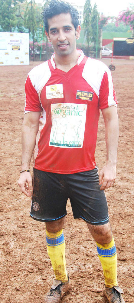 TV Stars at Gold Charity Soccer Football Match
