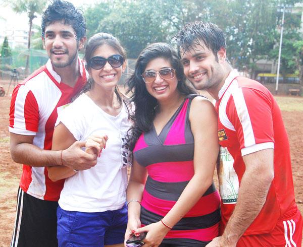 Vivian and Kishwar Poses at Gold Charity Soccer Football Match