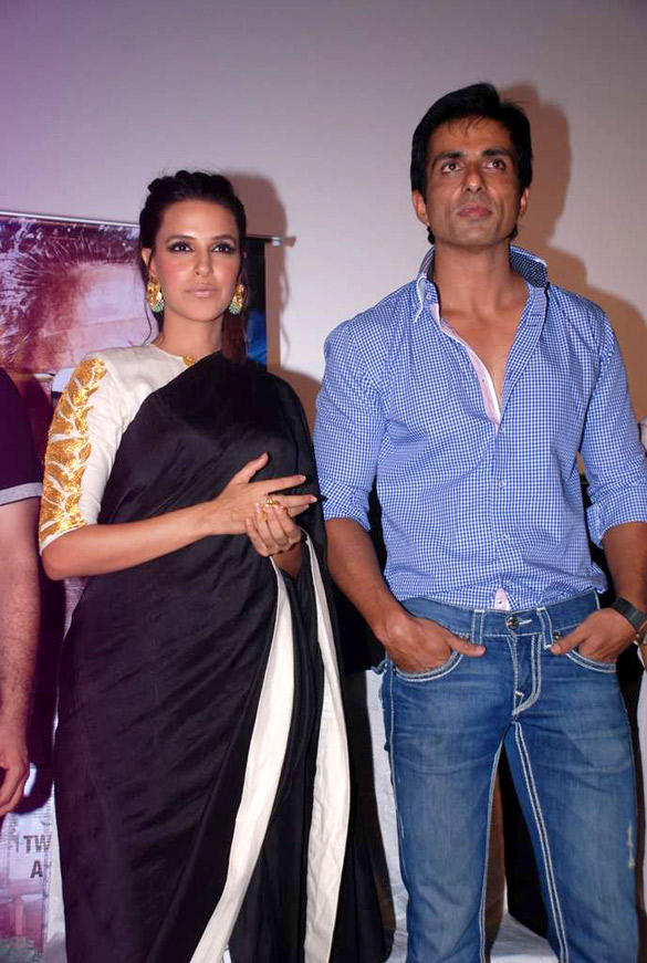 Sonu Sood and Neha Poses at The Audio Launch Of Maximum