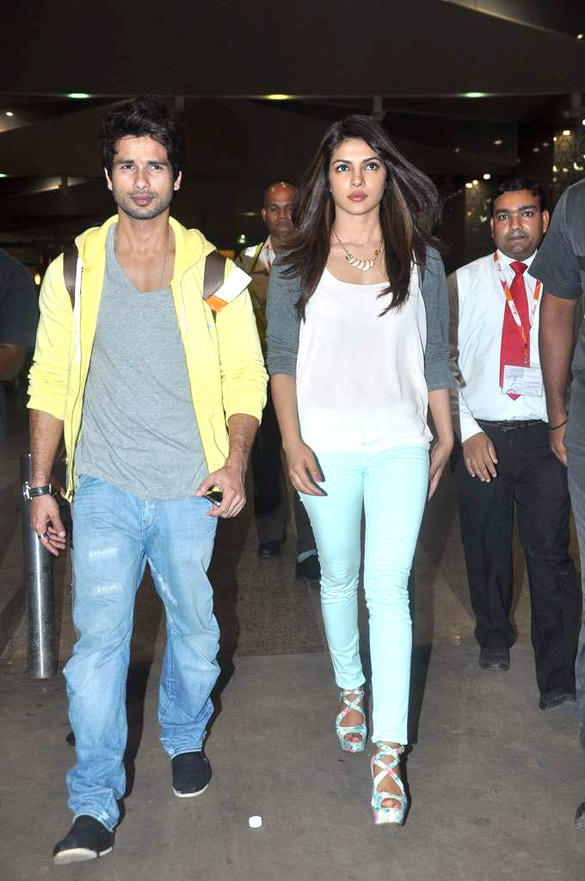 Shahid and Priyanka Attend The Special Screening of Teri Meri Kahaani