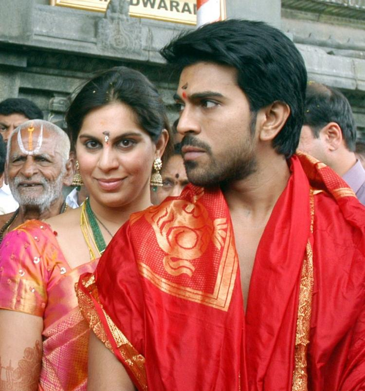 Just Married Couple Ram Charan and Upasana at Tirumala Tirupathi Devasthanam