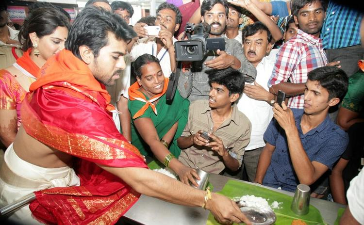Ram Charan and Upasana Serve Food To Pilgrims at Tirumala Temple