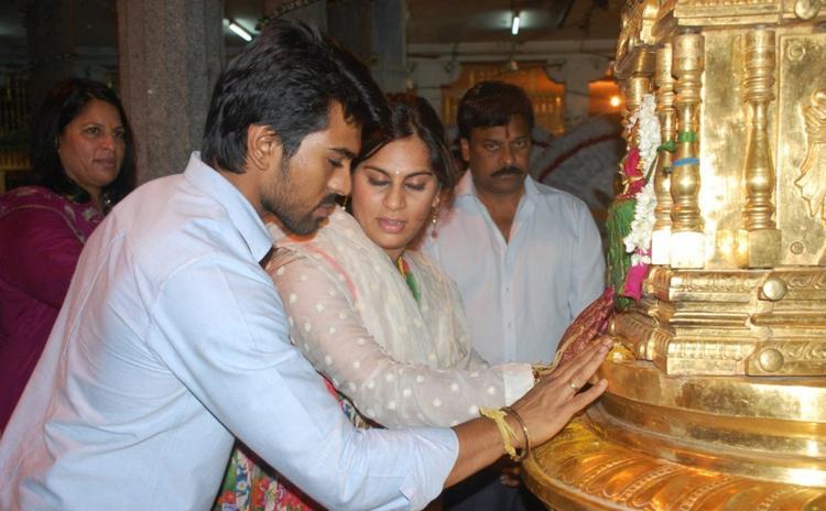 Ram Charan and Upasana Visit Tirupati Temple