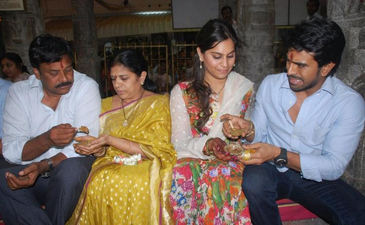 Ram Charan With Family at Tirupati Temple