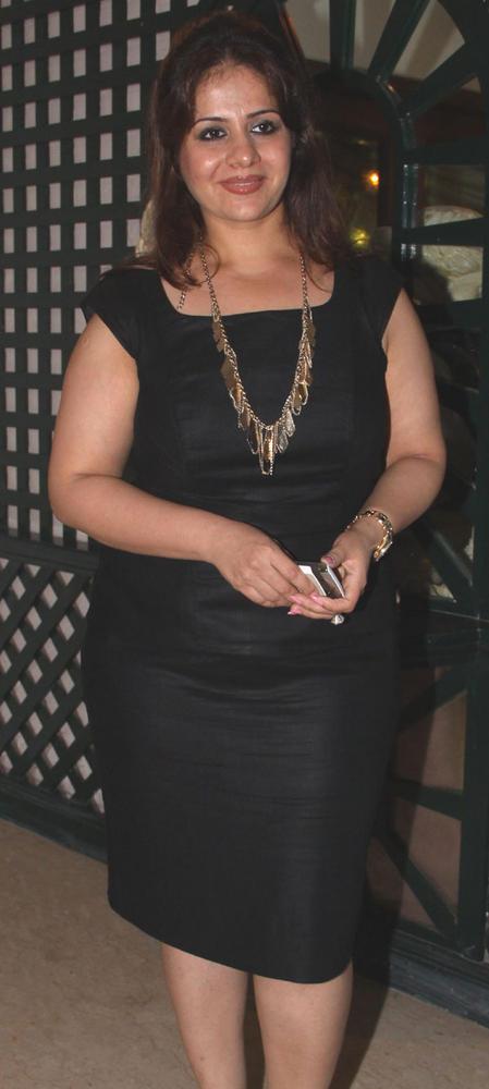 Kiran Bawa In Black Bandage Dress at Mika Singh Birthday Bash