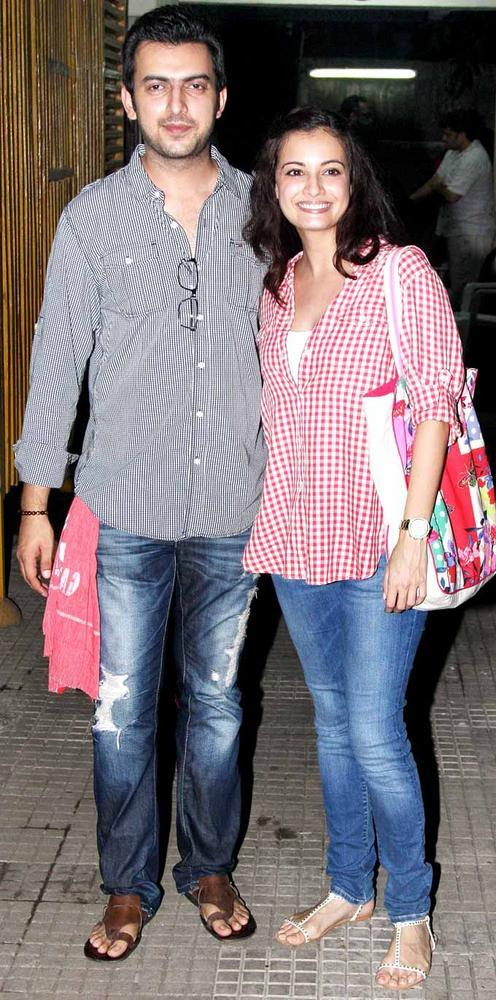 Dia Mirza and Sahil Sangha at Gangs of Wasseypur screening
