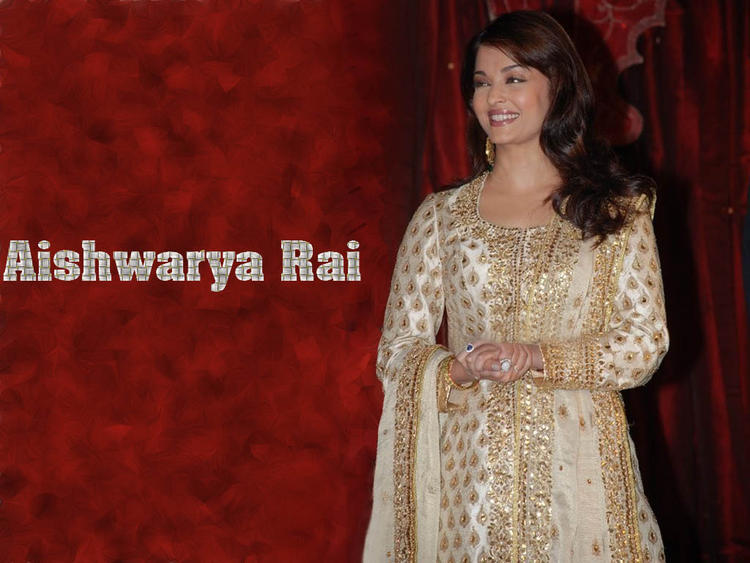 Aishwarya Rai Charming Wallpaper In Gorgeous Full Sleeve Dress