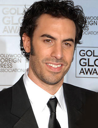 Sacha Baron Cohen Sweet Still at Golden Globe Awards