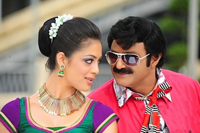 Balakrishna and Parvathi Hot Romantic Look In Srimannarayana