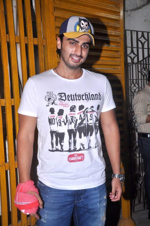 Arjun Kapoor Spotted at Gangs Of Wasseypur Screening