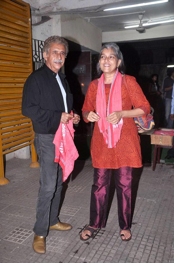Naseeruddin and Ratna at Gangs Of Wasseypur Special Screening