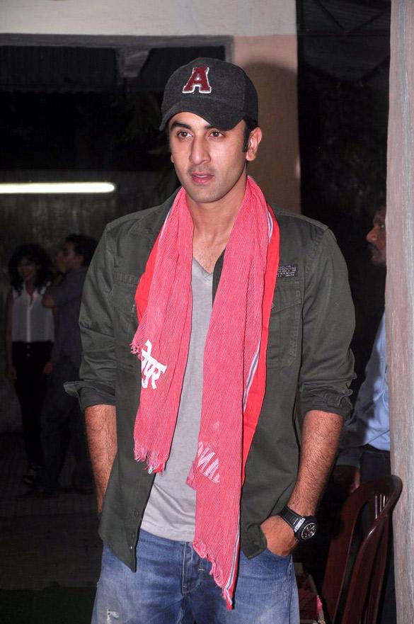 Ranbir Kapoor Spotted at Gangs Of Wasseypur Screening