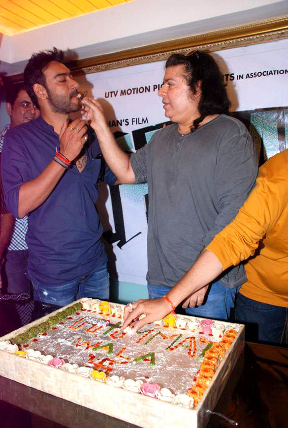 Ajay and Sajid Celebrate Himmatwala Songs Recording Event
