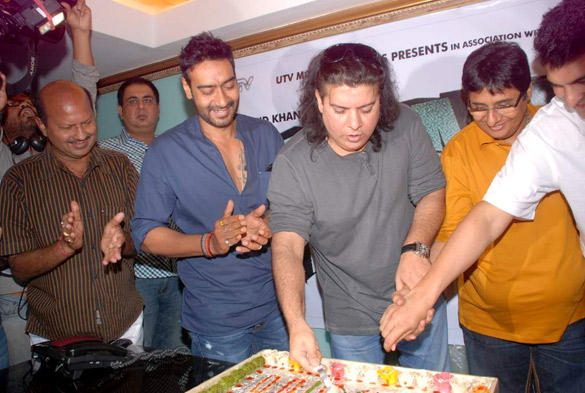 Ajay Devgan and Sajid Khan Cutting The Cake in This Event