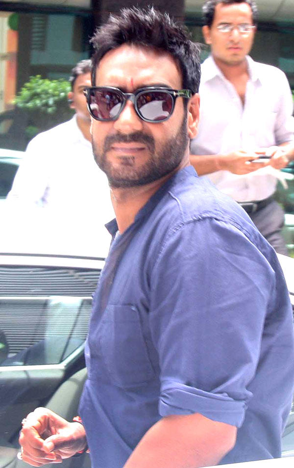 Ajay Devgan Spotted at Himmatwala Song Recording Event