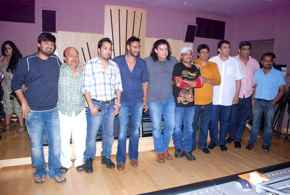Cast and Crew at Himmatwala Songs Recording Event