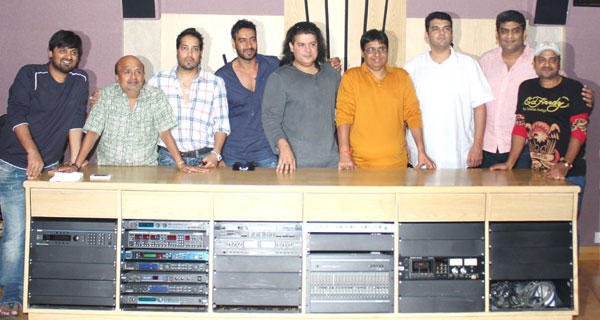 Cast Crew at Himmatwala Song Recording Event