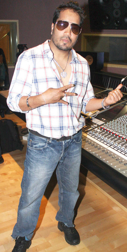 Mika Singh at the Song Recording Event of Himmatwala Movie
