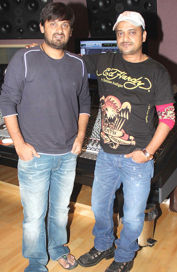 Wajid Ali at the Song Recording Event of Himmatwala Movie