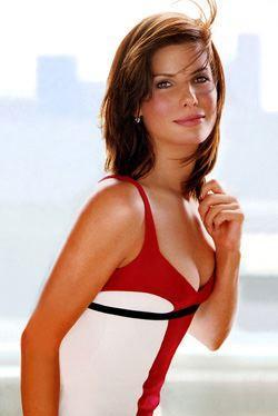 Sandra Bullock Sexy Boob Exposing Still