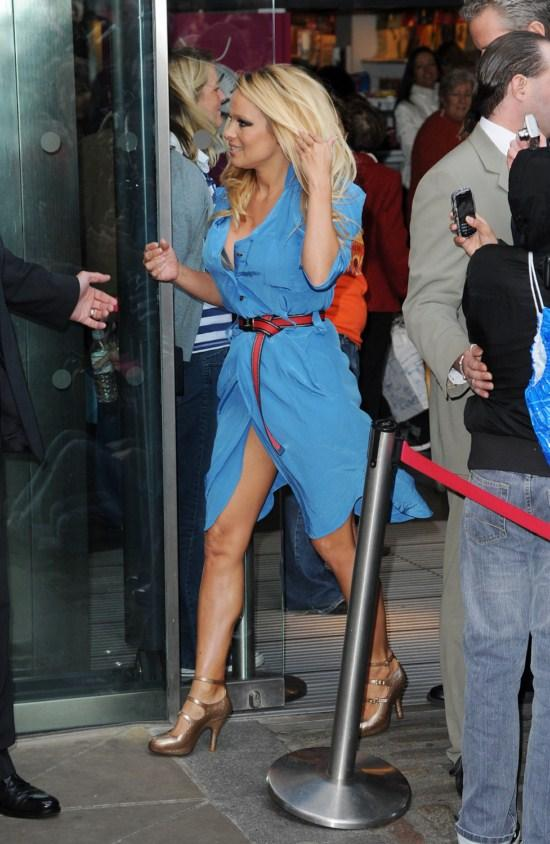 Pamela Anderson Unveiling PETA Ad in London