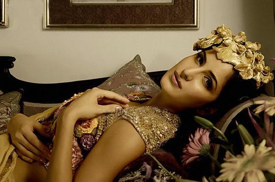 Katrina Kaif Laying Pose Photo Shoot