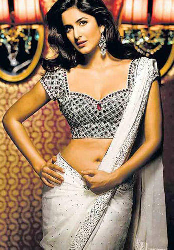Katrina Kaif Sexy Blouse and Hot Saree Pic