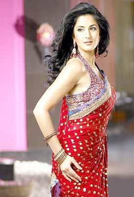 Katrina Kaif Sexy Gorgeous Pic In Red Saree