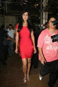Katrina Kaif Latest Still In Red Bandage Dress