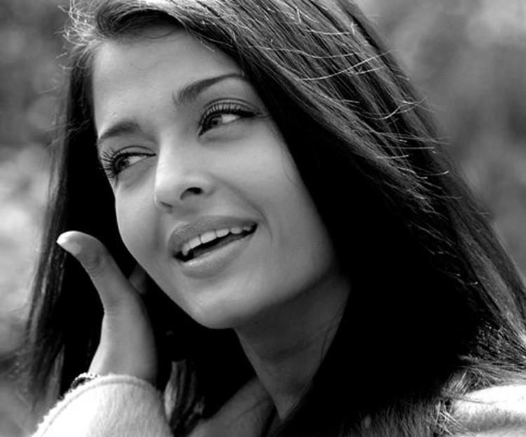 Aishwarya Rai Black and White Photo