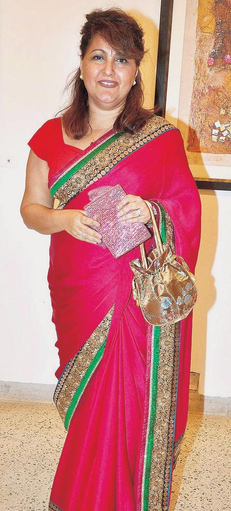 Rael Padamsee In Saree At An Art Show