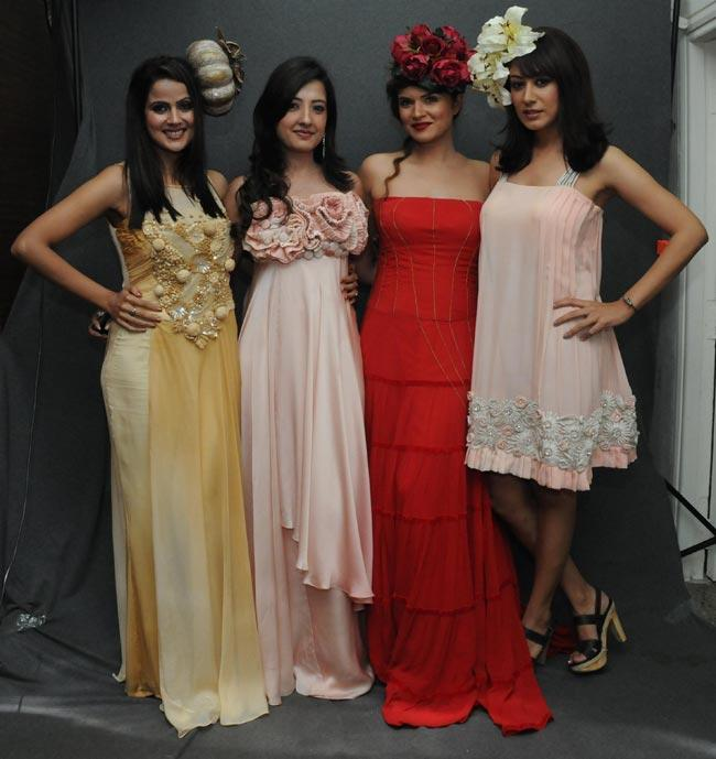 Nandini,Amy, Aashka And Anjali Strikes a Pose at A Fashion Show For The Cause To Save Girl Child