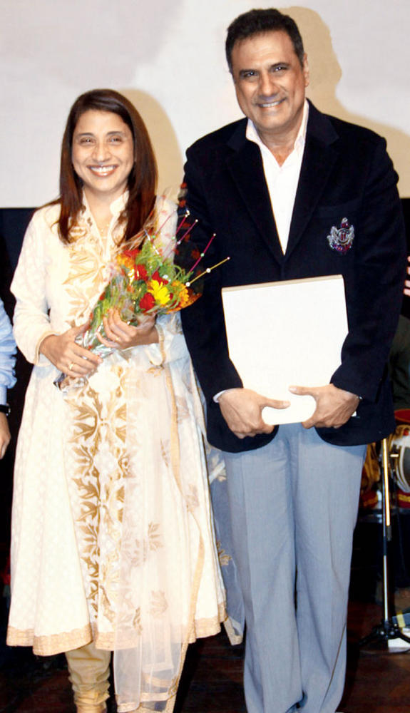 Zenobia and Boman Irani on The Stage at a Event