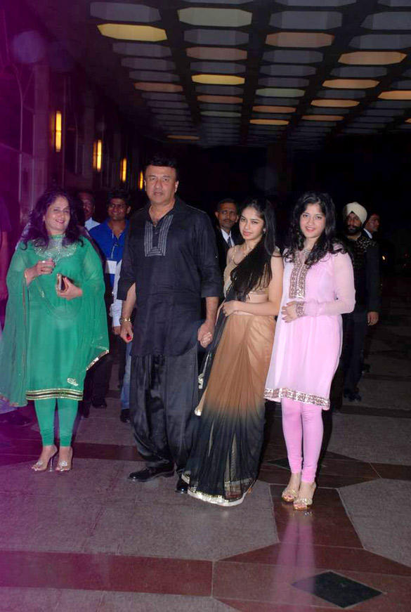 Anu Malik With Family Attend Esha Deol Sangeet Ceremony