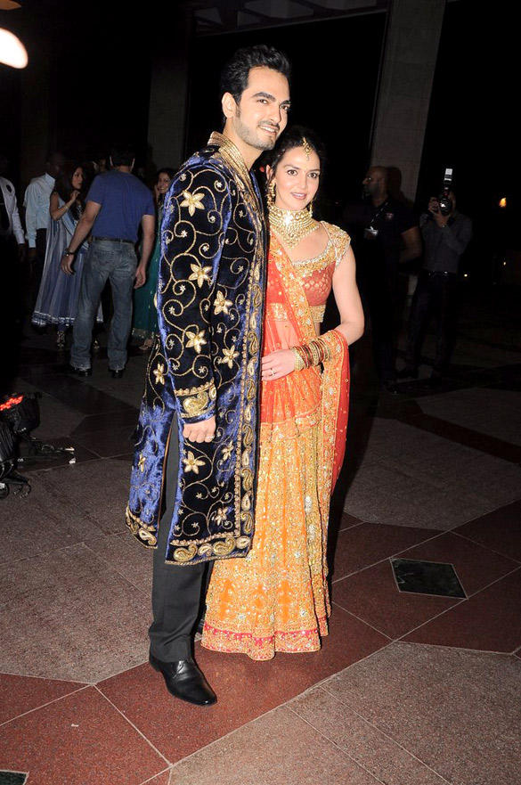Esha  and Bharat Takhtani at Their Sangeet Ceremony