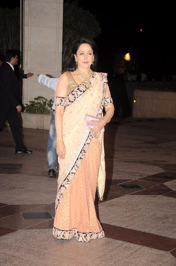 Hema Malini At Her Daughter Esha Deol Sangeet Ceremony
