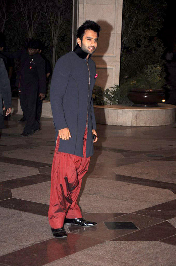 Jackky Bhagnani Stylist Pose at Esha's Sangeet Ceremony