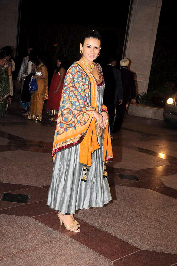 Pia Trivedi Latest Still During Sangeet Ceremony Of Esha Deol