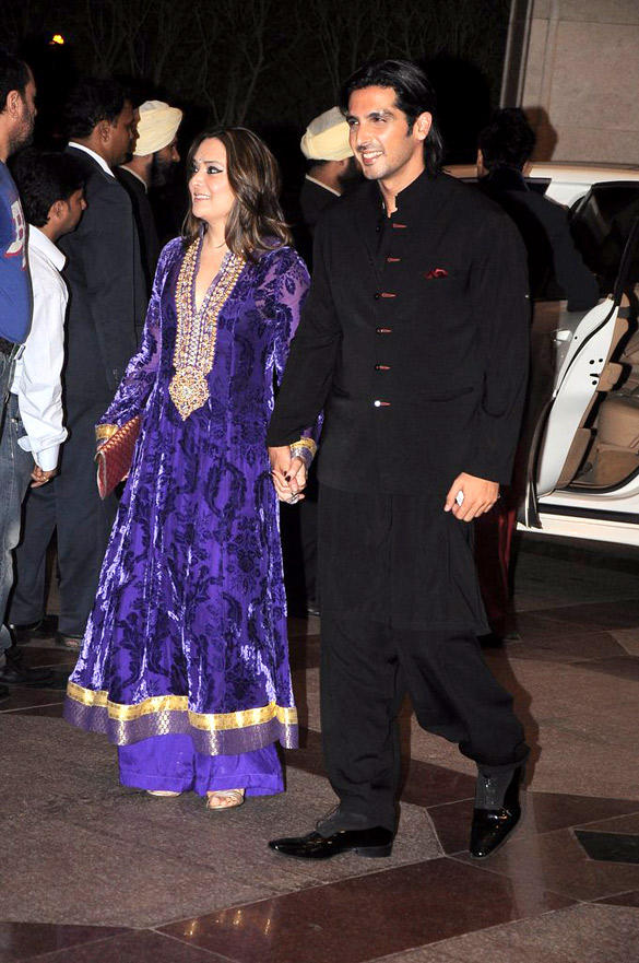 Zayed Khan With Wife During The Sangeet Ceremony Of Esha Deol