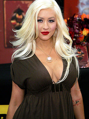 Christina Aguilera Awesome Face Look Still