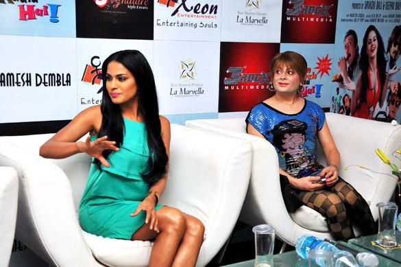 Veena and Bobby Promote Daal Mein Kuch Kaala Hai at Bangalore