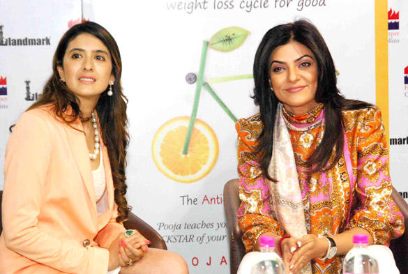 Sushmita at The Launch of Nutritionist Pooja Makhija's Book Eat Delete
